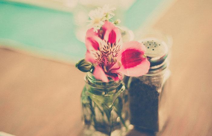 水切りをして小さくなった花