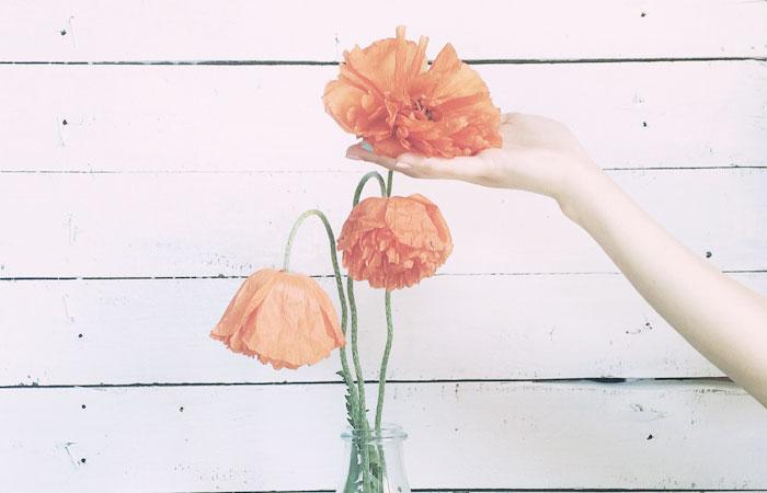 ぐったりした花